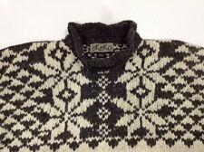 eKeKo Ecuador Handmade Chunky Wool Turtleneck Knit Sweater Unisex no size tag