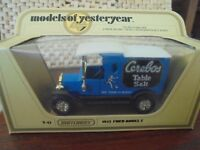 MATCHBOX MODELS OF YESTERYEAR - Y-12 1912 FORD MODEL T - CEREBOS TABLE SALT