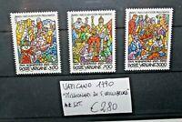 """VATICANO VATICAN 1990 """"MISSIONARI SI S. WILLIBRORD"""" NUOVI MNH** SET (CAT.W)"""