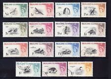 FALKLAND IS 1960 SG193/207 set of 15 Birds - very fine used. Catalogue £80