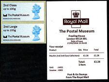 THE POSTAL MUSEUM LOGO REVISED SETTING 2nd MACHIN COLL SET/6 FDI POST & GO