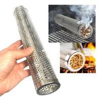 Mesh Stainless Steel BBQ Smoker Tube Generator Pellet Grill Cold Smoke 6″/12″
