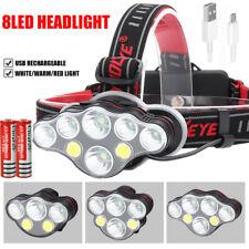 350000LM T6 LED Headlamp Headlight Torch Rechargeable Flashlight Work Light Camp