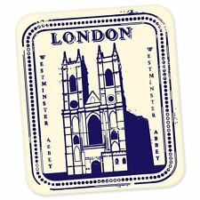 "London Westminster England travel car bumper window suitcase sticker 5"" x 3"""