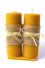 Set Hand-Rolled 100% natural beeswax candles