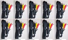 10 LOT Stereo RCA AV A/V Audio Video Cables for Sega Dreamcast System Console