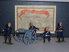 LITTLE LEGION Z/98 ZULU WAR BRITISH 7LB GUN AND CREW IN ACTION TOY SOLDIER SET