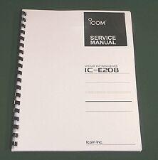 Icom IC-E208 Service Manual - Premium Card Stock Covers & 28 LB Paper!