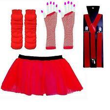 NEON TUTU SKIRT SET & BRACES - FANCY DRESS TUTU UV HEN PARTY LEG WARMERS GLOVES