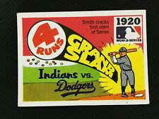 1920 WORLD SERIES INDIANS VS DODGERS FLEER 1968 VINTAGE BASEBALL CARD