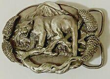 Appaloosa Trading CO Belt Buckle Siskiyou 1981 Mountain Lion Bergamot Brass BD2