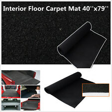 Car Pickup 40''x79'' Interior Floor Carpet Mat Black Heatproof Soundproof Cover