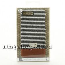 "Hex Focus Canvas Slim Thin Case Cover for iPhone 7 Plus 5.5"" Black/Gray Stripe"