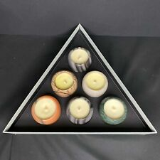 6*20 NEW Tom Dixon London Materialism Stone Scented Candle Set, 6 x 120g | $230