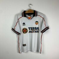 VALENCIA HOME FOOTBALL SHIRT 1999/2000 #7 CLAUDIO VINTAGE SOCCER JERSEY SIZE S