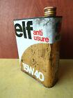 Ancien bidon d'huile ELF vide deco de garage vintage annees 1950