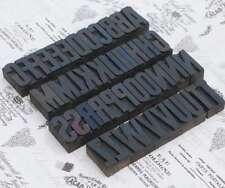 A-Z Alphabet Holzbuchstaben 54mm Lettern Holzlettern Vintage shabby letterpress