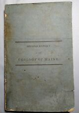 SCARCE 1838 & 1839 ANNUAL REPORTS OF THE GEOLOGY OF MAINE