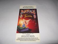 RARE 1994 THUMBELINA PREMIERE SCREENING MOVIE TICKET - DON BLUTH CARTOON