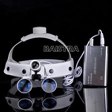 Dental Surgical Headband 3.5X-420mm Binocular Loupes Magnifier + LED Head Light