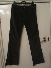 Dark Grey Stretch Flare Velvet Cords Corduroy Trousers Size 25 in. Waist - L31