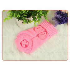 XS/S/M/L/XL Pet Dog Clothes Coat Warm Knitted Sweater Jumper Apparel Pink Red ZY