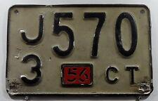 Canción muy antigua matrícula EE. UU. de connecticut de 1956. 11440.
