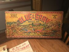 Vintage 1960's Marx Giant Blue & Gray Battle Set