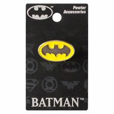 Batman New * Colored Logo * Pewter Lapel Pin Accessory Charm Pin Back Licensed