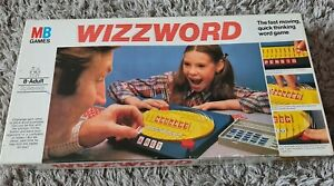 Wizzword Board Game By MB Vintage 1977 Family Game Educational Game Night Words