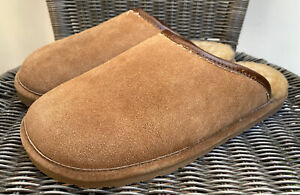 Red Wing Shearling Lined Brown Suede Mule Scuffs Slippers 97519 Large US 10-11