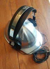 Rare Panasonic Eah-T40 Headphones Chrome Silver Tested Works Fast Free Ship