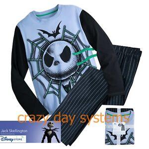 Disney Store  Nightmare Jack Skellington Pajama Set 2 Pc Shirt Pants Sz Med Mens