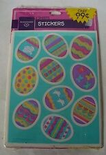 1993 HALLMARK COLORED EASTER EGGS 40 STICKERS 4 SHEETS NEW SEALED