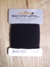 Scanfil Mending Wool 15m - Full Range of Colours Available Black