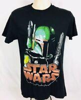 "NWT Star Wars ""Boba Fett"" Men's Graphic Short Sleeve T-Shirt Black Size Small"