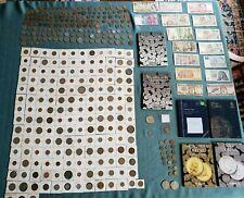 Large Coin Collection.  1576 Dutch Lion Dollar.  360 Coins.  Paper Money.