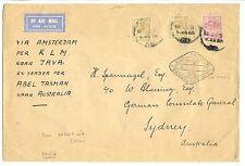 ENGLAND 1931 ENGLISH MAIL VIA BATAVIA  ABEL TASMAN 1931-5-9 TO SYDNEY   FINE