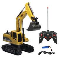 Schwermetall Bagger Modell Free Wheeler Diecast Construction 1:24 Excavator Hot