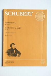 Noten. Schubert. Fantasie in C.  Wanderer-Fantasie. D760 – op.15.   Für Klavier.