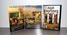 Age of Empires III (PC, 2005) - 3 Disk w Key Computer Video Game 2005 Vintage XP