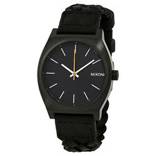 Nixon Time Teller Black Dial Woven Leather Unisex Watch A0451928