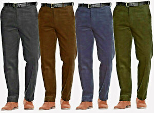 MENS CORDUROY CORD TROUSERS SMART FORMAL CASUAL OFFICE PLUS BELTED COTTON PANTS