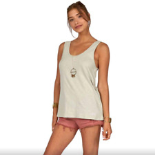 Billabong Essential TT Sleeveless Vest in Mineral Green Size XS