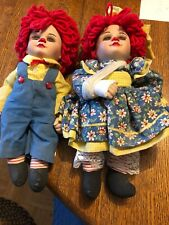 Marie Osmond Miracle Network Rosie & Rags Raggedy Ann and Andy. No Box