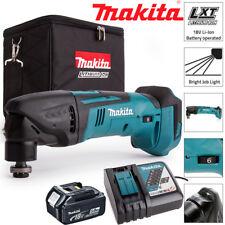 Makita DTM50Z 18V Oscilante Multiherramienta Con 1 X 5.0Ah BL1850, DC18RC Y Bolsa De Cubo