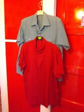 Used but VGC 2 mens short sleeve shirts 1 blue, 1 red 40/42 chest M.