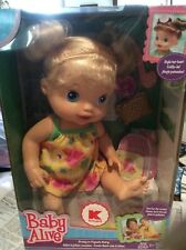 Baby Alive Pretty in Pigtails Blonde Baby Doll  Brand New