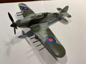 Dinky toys 718 Hawker Hurricane Mk II -Working Machine Gun - Excellent Condition