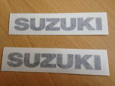 Suzuki Motorbike Motorcycle Fairings Tank Stickers Decals x2 @ 100 x 15mm Black